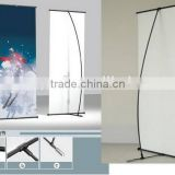 Fiberglasss L banner stand common L stand banner display