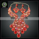 2016 New Arrival handmade crystal Jewelry set which for Wedding jewelry set Match Clothes KHK857