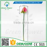 greenflower 2016 PVC Anthurium artificial flowers for Home party Wedding decorations