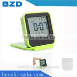Promotional Portable Stylish Digital Table Clock With Thermometer Alarm Snooze and Night Light