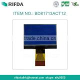 STN blue bill counter graphic lcd display module 128x64