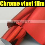 AIR free 1.52*30m chrome vinyl for car wrapping red mirror film