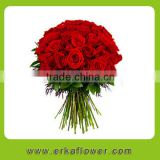 3-heads beautiful red rose panties for home decoration