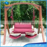 Luxury garden wood hammock chair stand