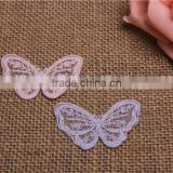 colorful butterfly pattern hand made hollow embroidery chemical mesh lace applique for accessory