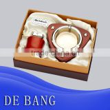 wooden ashtray cool with lighter set, with gift box