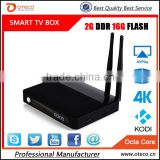 New Arrival CSA91 Android 5.1 TV Box RK3368 Octa Core 4K Smart Media Player 3 USB Port Dual WiFi antenna Bluetooth 4.0