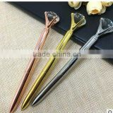 big diamond crystal metal ball pen for gift promotion with logo print or engraved                                                                         Quality Choice