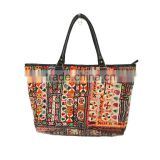 Gypsy Embroidered Tote Bag Unique Tribal Handbag Indian Bnajara Hand Bag