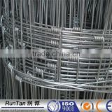 ISO9001 anping hot dipped galvanized 1.5m,1.8m,2m hinge joint field fence high tensile woven cattle fence factory