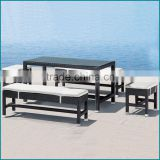 Outdoor wicker rattan sofa set cube garden wicker furniture JJ-621TC                                                                                         Most Popular