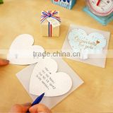 Sweet heart shape handmade paper greeting card                                                                         Quality Choice