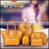 2015 new European backpack multifunctional with si sets of high-end fashion brand handbags bags wholesale