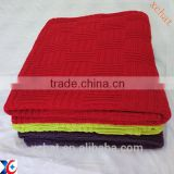Wonderful quality cotton cable knit throw hotel blanket                                                                         Quality Choice