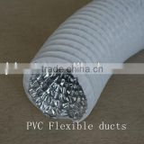 High qualtiy white pvc flexible corrugated hose ground air vent duct for Engineering