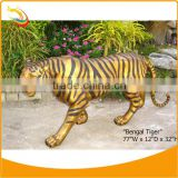 Bronze Tiger Sculpture Bengal Tiger Statue Life-size Animal Sculpture Bronze Animal Garden Sculptures Large Animal Sculptures