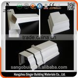 .Clean and beautiful plastic PVC rain water gutter for rain water collector system