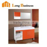 LB-JL2129 Detail MDF Vanity Double Marble Furniture Bathroom Vanities Lacquer MDF High End USA Vanity for Bathroom