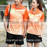 100% polyester volleyball men uniforms Wholesale badminton jerseys set