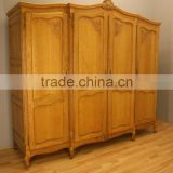 French Vintage Armoire Wardrobe Four Door