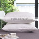 Hot sell hollow fiber filling 100% cotton plain style white pillow inner