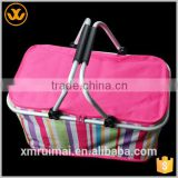 Manufacturer large aluminum foil 600D folding insulated promotional cooler bag of frozen food                                                                         Quality Choice