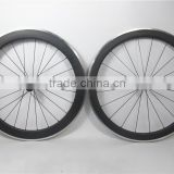 700C full carbon fiber alloy bike wheels 50mm*60mm clincher rims with aluminum braking surface, mixed carbon clincher wheel