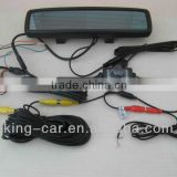 4.3inch rear view mirror license plate camera bluetooth car kit