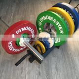 Dynomaster Crossfit Equipment/Rubber Bumper Plates with Steel Insert/ Weight lifting Plate