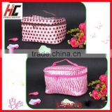 satin zipper lock cosmetic bags