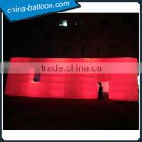 Huge inflatable led cube tent/ inflatable lighting structure/ giant inflatable building for events
