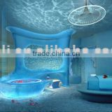 Backlit Acrylic Panel Hotel Interior Furniture Materials