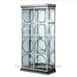 Multi floor Stainless Steel Wine Display Cabinet