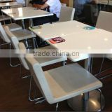 Factory price acrylic Solid Surface Dining Table , Artificial Stone Restaurant table, coffee table,KFC Table