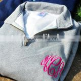 New Arrival Quarter Zip Monogram Sweatshirt