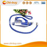 Chi-buy Large Blue Reflective Dog Leash with Harness Hand Make Dog Leash Free Shipping on order 49usd
