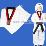 Factory High Quality Custom made logo embroidery kids shcool adult Taekwondo Suits uniforms