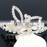 butterfly jeweled bridal tiara