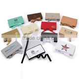 Fashion book shape cardboard packaging box / paper jewelry packaging box with ribbon closure