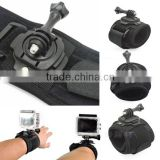 Wholesale 360 Degree Glove-style Elastic Wrist Strap Band Hand Arm Mount for Gopros Heros 4/3+/3/2/1