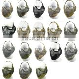 V2 Version Airsoft Paintball Protective Metal Mesh Steel Half Face Mask 18Colors