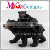 Resin Garden Decoration Black Bears Family Sculpture Wholesale