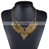 New Hot Fashion Bohemia Metal Style Necklaces Pendants Long Maxi Gold Statement Necklace 2016 European Exaggerated Jewelry