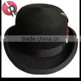 high quality 100% australia wool felt bowler hat derby black