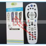 4 in 1 6 in 1 44 keys bring white high quality remote control for stv decorder ASTRO/sky plus