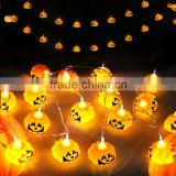 Free Sample Halloween Prop 16 Pieces Plastic Pumpkin Light Halloween Decoration
