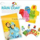 wholesale Japan cartoon animal shaped kid's poncho children raincoat rain wear waterproof