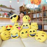 "Emoji Emoticon Yellow Round Cushion Stuffed 12"" Pillow Plush Soft Toys Decor"