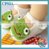 Fashion Soft Hand Crochet Baby Shoes Fancy Baby Girls Shoes Cute Crochet Knitting Baby Shoes