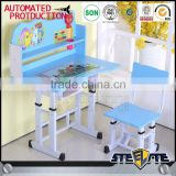 cartoon design kids study table and chair wooden kids study desk